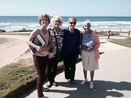 Caryll, Joyce, Marcie, and Tensia at Del Mar planning SOHA 2015