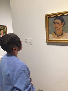 Midge Dellinger takes in the Frida Kahlo exhibit at the Heard Museum at the conclusion of the 2017 SOHA Conference